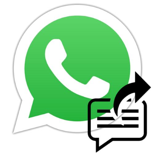 Функция пересылки сообщений в мессенджере WhatsApp