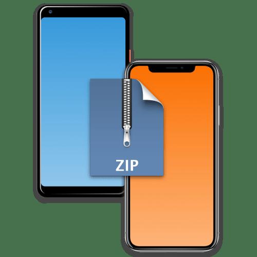 Открытие ZIP-файла на телефоне